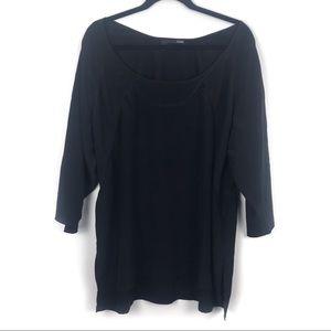Eileen Fischer Tunic 3/4 Sleeve Black